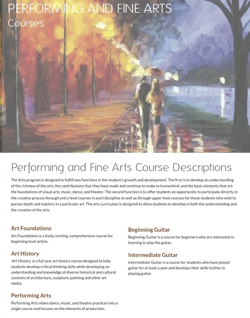 Course Offerings – Orion International Academy